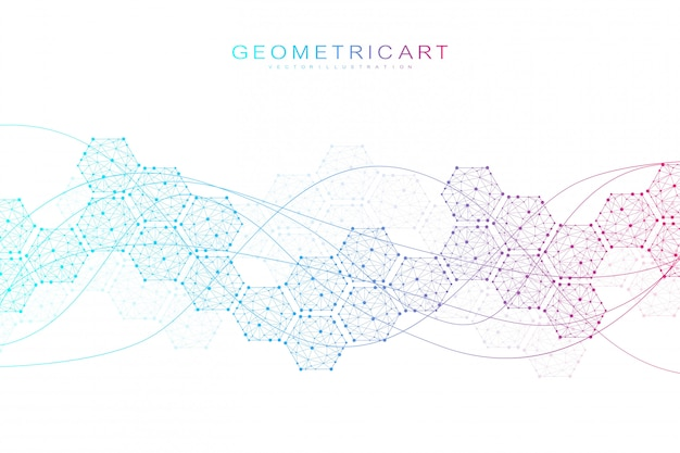 Hexagonal abstract background sciences