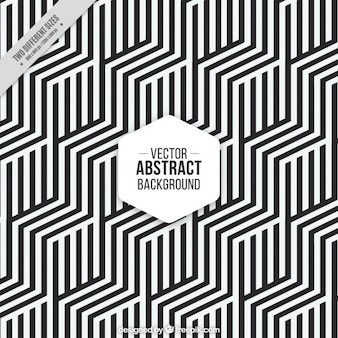 Hexagonal background with black and white stripes