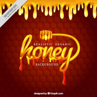 Hexagonal background with honey