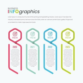 육각형 시계 유형 인포 그래픽 전문 비즈니스 프레젠테이션 템플릿