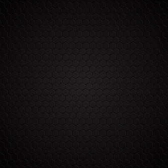 Hexagonal dark pattern background