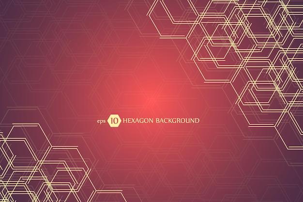 Шестиугольная геометрическая предпосылка. деловая презентация Premium векторы