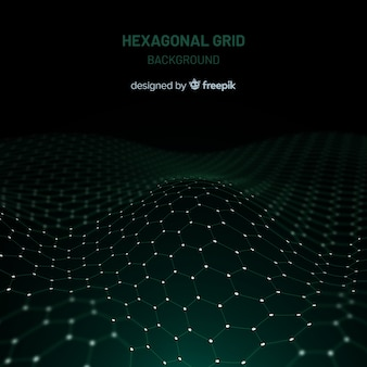 Hexagonal grid background
