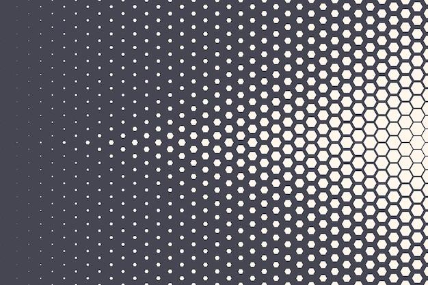 六角形のハーフトーンパターン抽象的な幾何学的背景