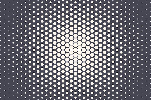 六角形のハーフトーンテクスチャ幾何学的技術抽象的な背景