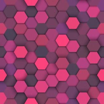 Hexagonal hipster seamless pattern
