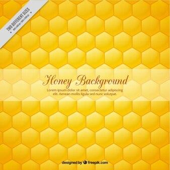 Hexagonal honey background