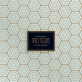 Hexagonal line seamless pattern design