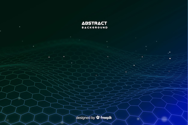 Hexagonal net background