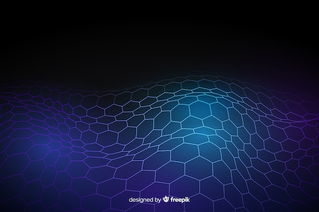 Hexagonal net futuristic background