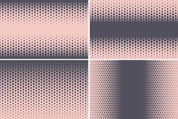 Hexagonal pattern geometric hexagon halftone abstract background