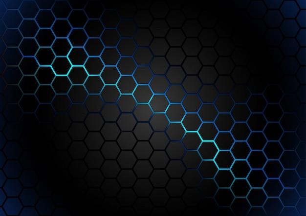青いマグマの背景に六角形のパターン