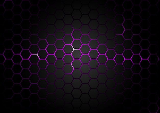 Hexagonal pattern on purple magma background