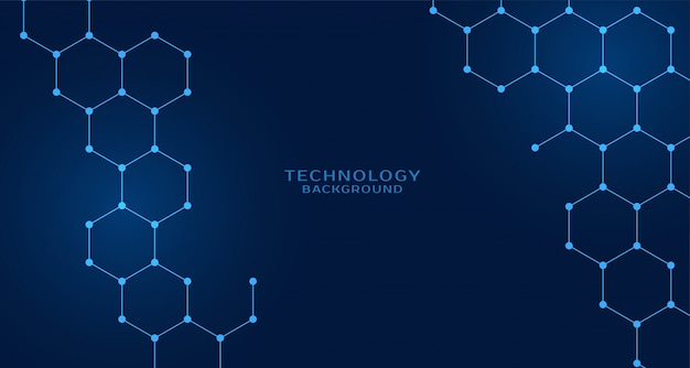 Hexagonal shape technology background