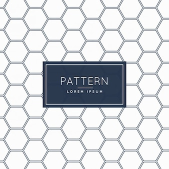Hexagonal shapes pattern in white color