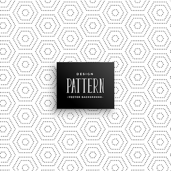 Hexagonal subtle dots pattern background