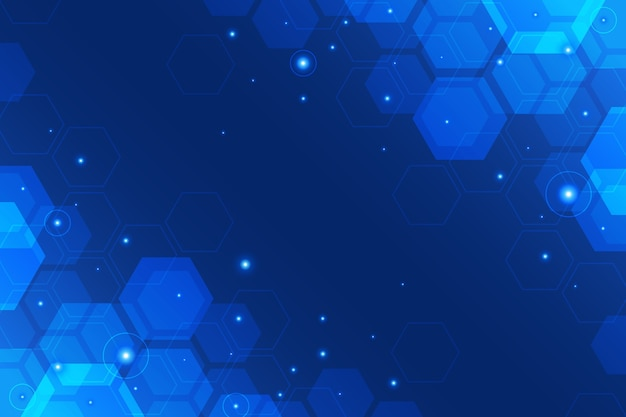 Hexagonal technology background
