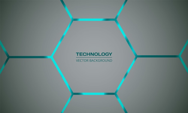 Hexagonal turquoise abstract background
