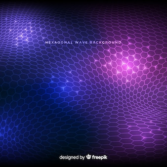 Hexagonal wave background