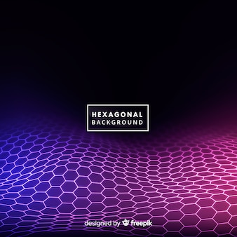 Hexagonal wave background