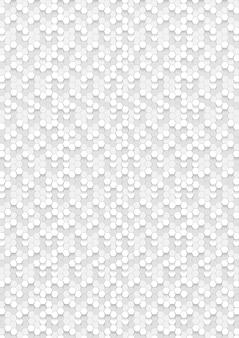 六角形の白い抽象、3d六角形のテクスチャ