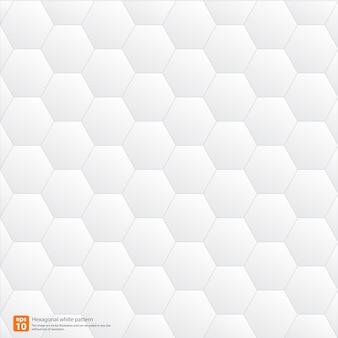 Hexagonal white pattern geometric abstract background