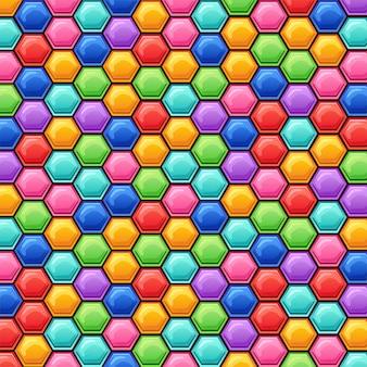 Hexagons background.