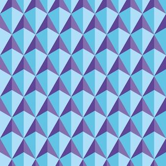 Hexagons blue seamless pattern