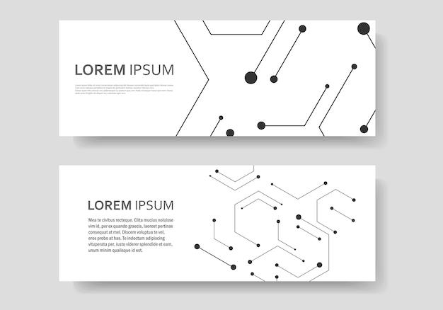 六角形の化学枝肉とソーシャルネットワーク。抽象的なデザイン