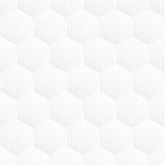 육각형 기하학적 하프 톤 밝은 회색 원활한 패턴