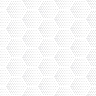 Hexagons halftone seamless pattern