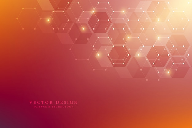 Hexagons pattern for medical, science and digital technology  background