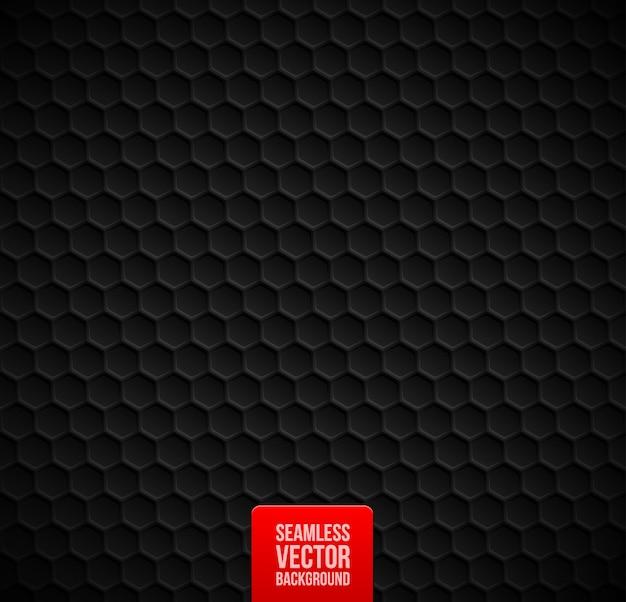 Шестиугольники бесшовные черный фон