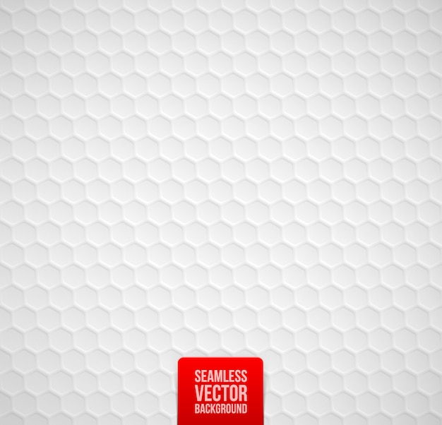 Hexagons seamless white background.