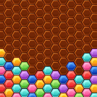 Hexagons with colors