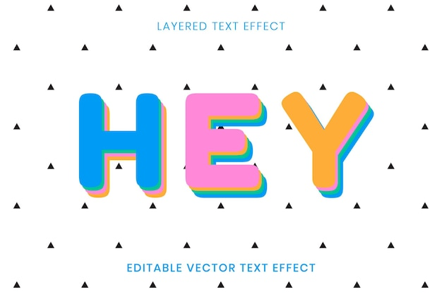 Hey greeting editable text effect