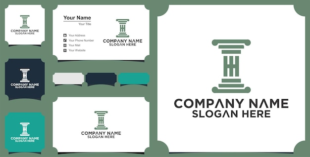 Hh law logo and business card