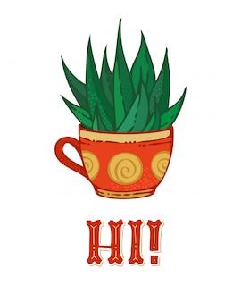 Hi cactus card