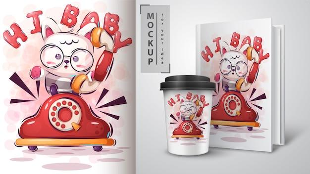 Hi kitty illustration and merchandising