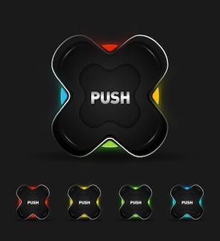 Hi tech buttons collection