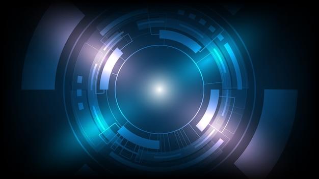 ハイテクコミュニケーションコンセプトイノベーション背景、科学および技術デジタルライン青い背景