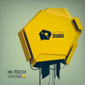 Высокотехнологичная концепция с трехмерным инженерным строительством