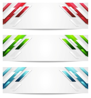 Hi-tech geometric abstract banners. vector design