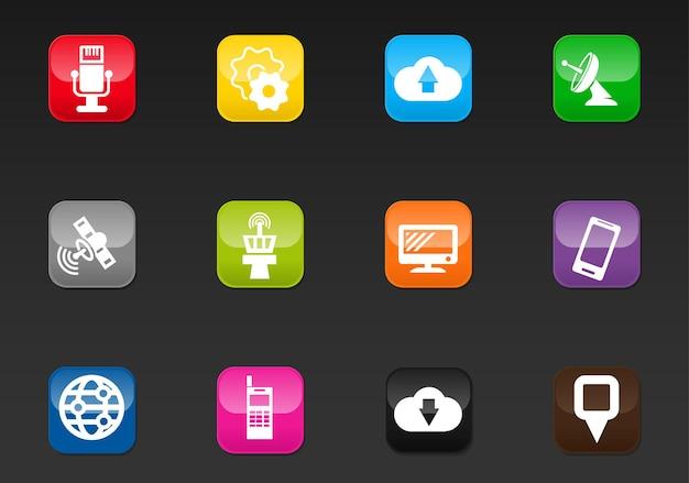 ユーザーインターフェイスデザインのハイテクベクトルアイコン