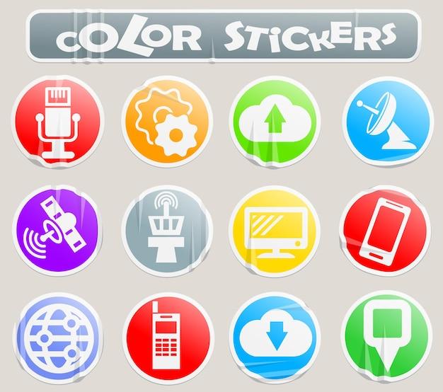 あなたのデザインの紙のステッカーにハイテクベクトルウェブアイコン
