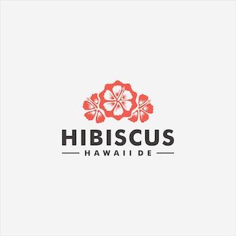 ハイビスカスの花のロゴのテンプレートデザインベクトル