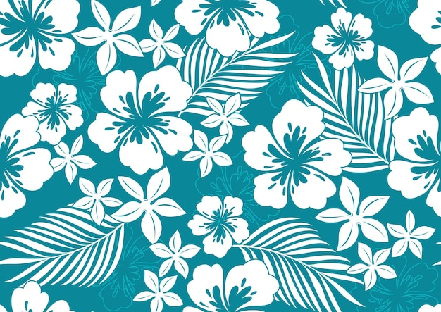 Hibiscus hawaii seamless pattern.