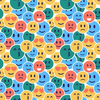 Hidden emoticons pattern template