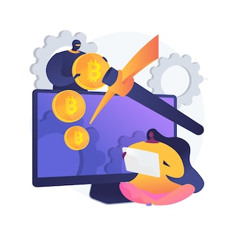 Hidden mining abstract concept illustration