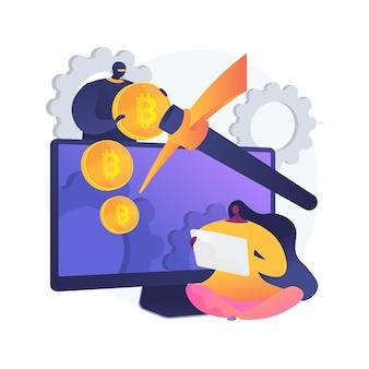 Illustrazione di concetto astratto di data mining nascosta